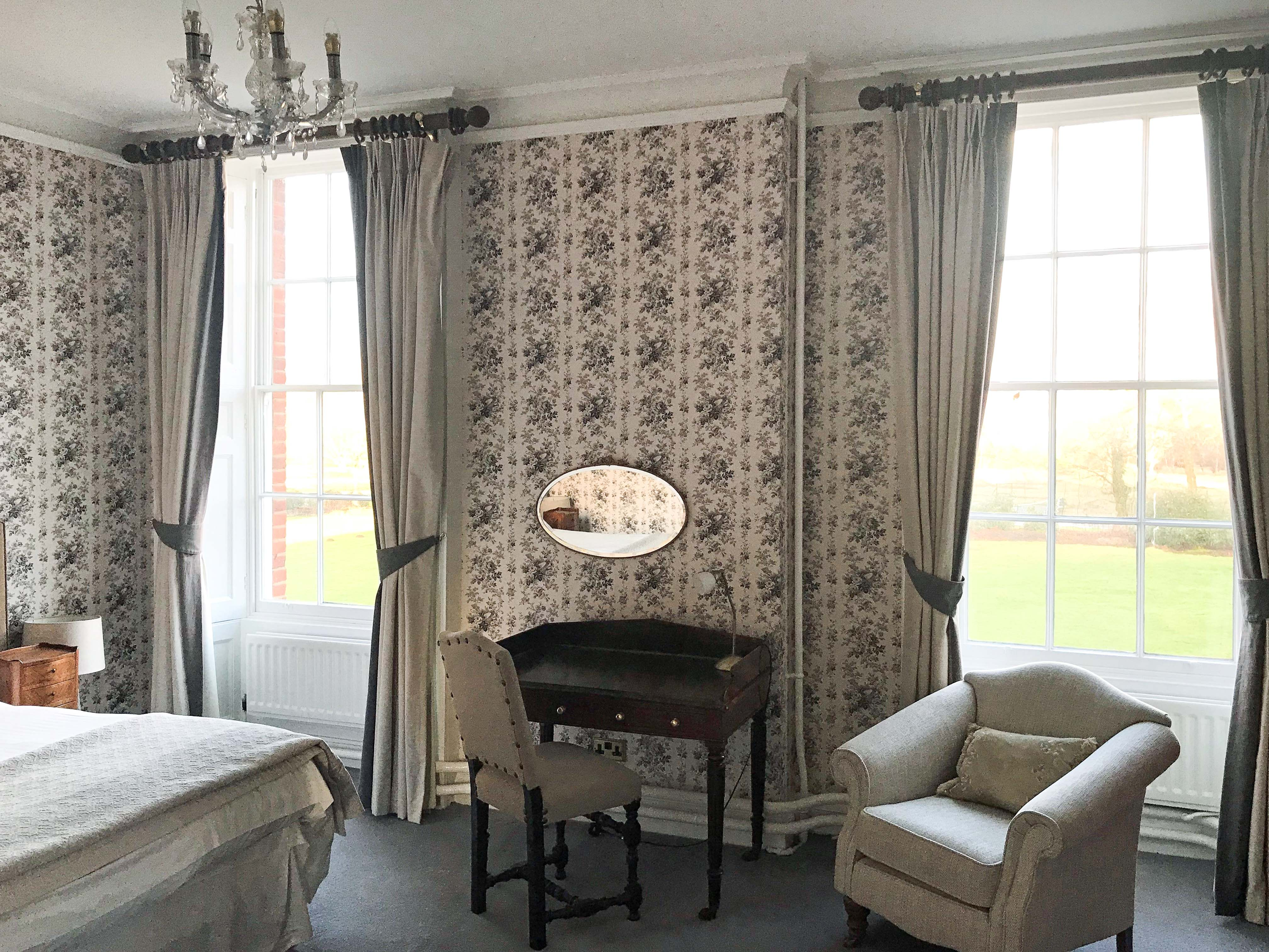 Guest bedroom at Cumberland Lodge