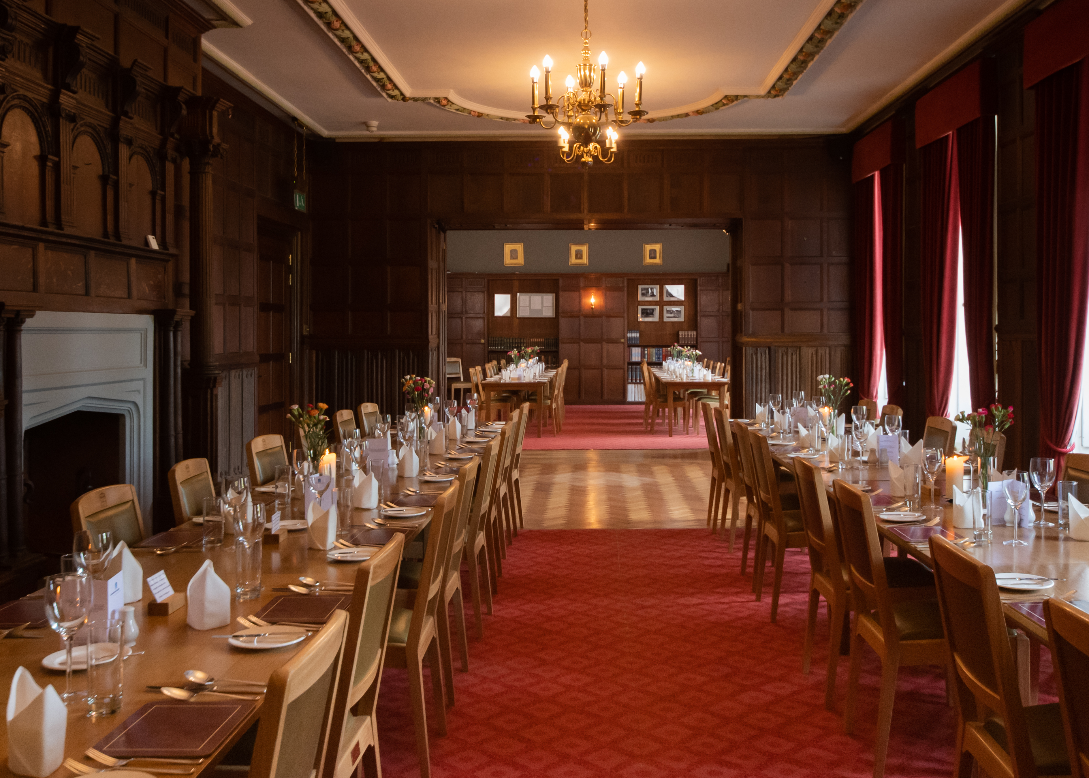 Main dining space at Cumberland Lodge
