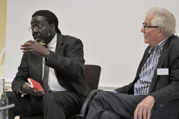 Lord Victor Adebowale and Professor John Dickie taking questions from the floor, after speaking at the Cumberland Lodge conference on Understanding and Policing Gangs in June 2019
