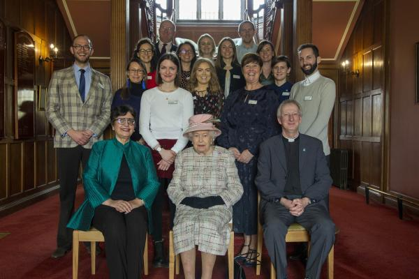 Cumberland Lodge scholars and staff meeting Her Majesty The Queen