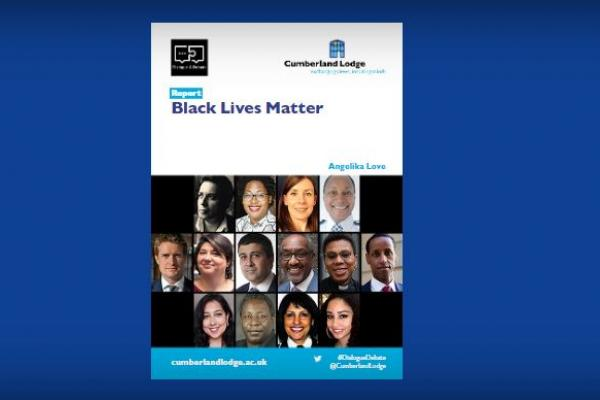 Front cover of the Cumberland Lodge Report on Black Lives Matter (2020)