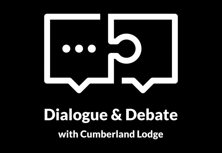 Black Lives Matter mini-series logo, for the Dialogue & Debate webinar series from Cumberland Lodge