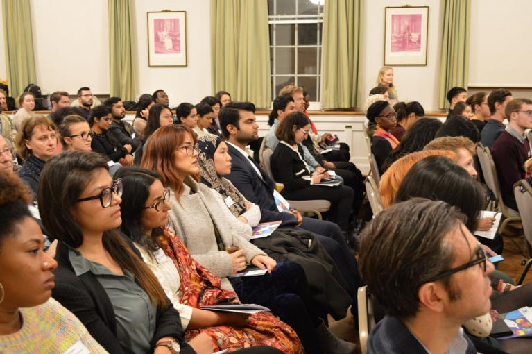 Audience members at a Cumberland Lodge Dialogue in London