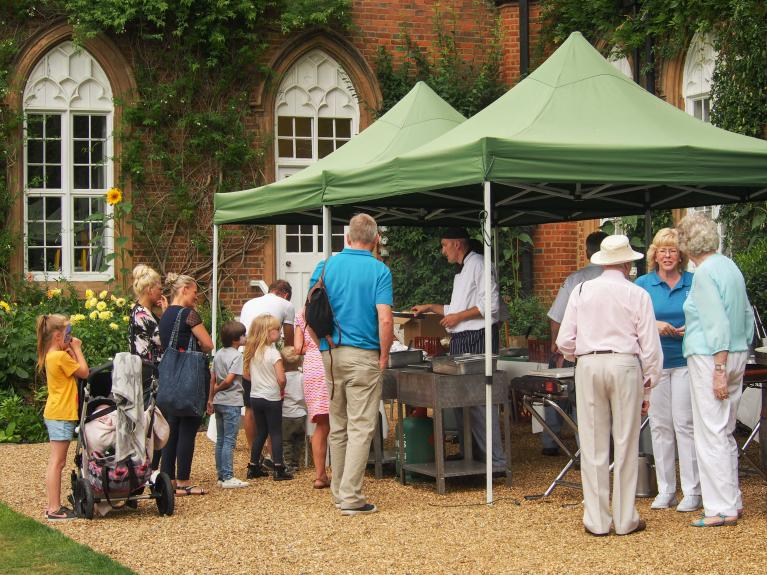 Garden party food stall at Cumberland Lodge